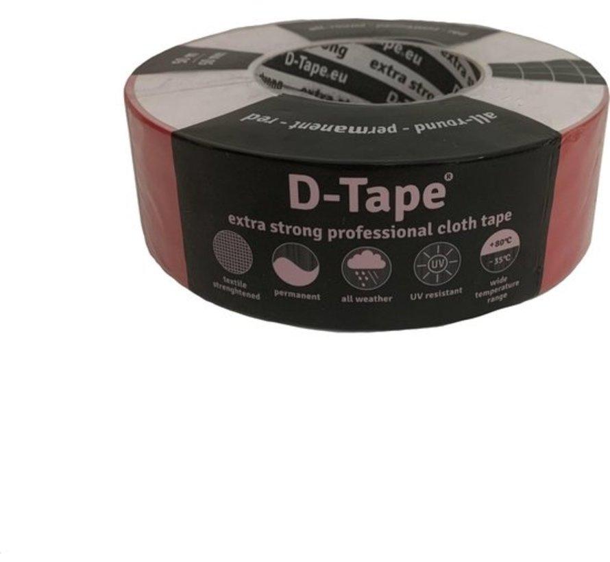 Deltaflix ducttape 50m/ 5cm - Rood