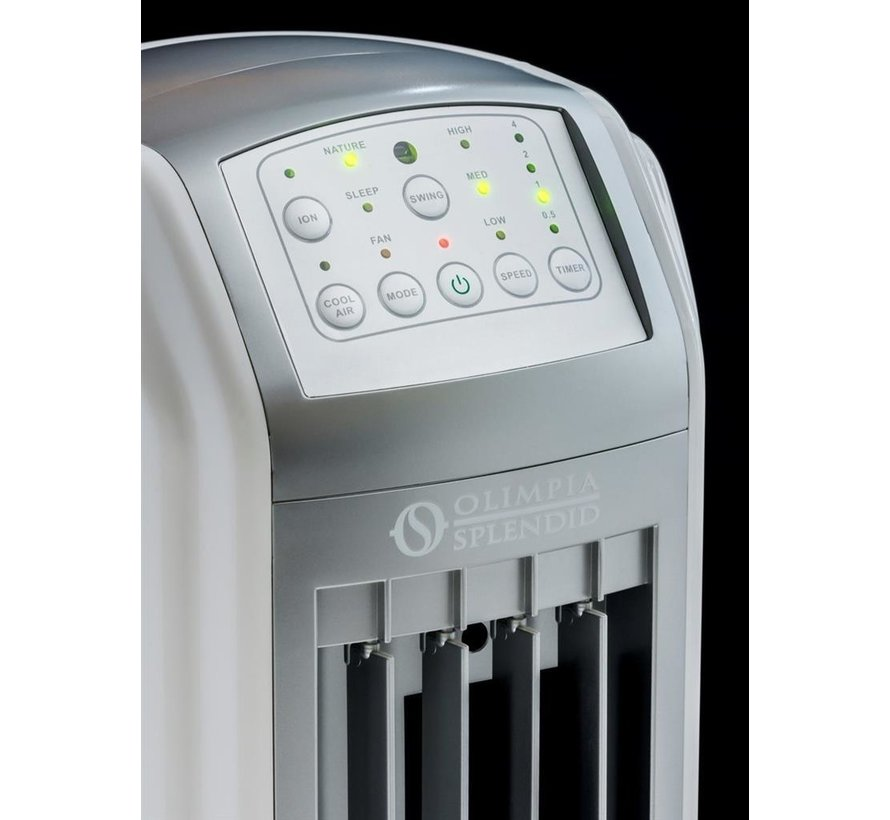 Olympia Splendid Peler 4D - Aircooler incl. timer en afstandsbediening  75 Watt 4 L max. 20 m²