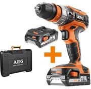 AEG AEG BSB18C2X Klopboormachine – 18V/2,0Ah – Incl. accu's, lader en koffer