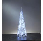Generic Acryl Piramide met 60 heldere LED lampjes, 89 cm