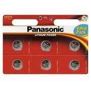 Panasonic Panasonic Lithium knoopcellen CR2016 6 stuks