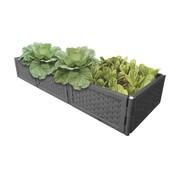 Generic Multifunctionele plantenbak flexibel & uitbreidbaar antraciet set 4 stuks