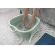 Generic Opvouwbaar voetbad met massage studs, mintgroen