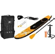 Wakiki Wakiki Max SUP Board Set Opblaasbaar - 305x71x10cm - oranje/zwart