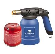 Kemper Kemper Handgasbrander BBQ aansteker met piëzo aansteking incl. gasbus
