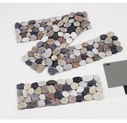Generic Tuintegels met kiezels 10 x 30cm 4 stuks