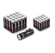 Ansmann Ansmann Batterijen voordeelpak 20x AA + 20x AAA en gratis LED zaklamp