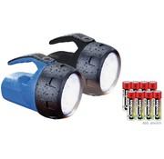 Wetelux Wetelux Handschijnwerper 1W, set van 2, blauw/zwart