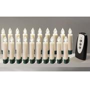 Westfalia Westfalia Draadloze LED kerstboom kaarsen kerstverlichting 15 stuks + 5 extra gratis warm wit
