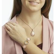 Generic Sieradenset Harmony zilver/roségold met Swarovski kristallen