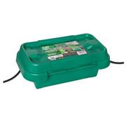 Heitronic Dribox waterdichte kabelverdeelbox voor buiten - IP55 - 20 x 9 x 9 cm - Groen