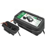Heitronic Dribox waterdichte kabelverdeelbox voor buiten - IP55 - 20 x 9 x 9 cm - Zwart