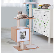 Paws Paws Krabpaal toren | St Paul's Cat-hedral | hout/sisal | 60 x 40 x 120 cm