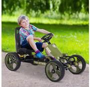 HOMCOM HOMCOM Skelter vanaf 3 jaar | met pedalen en verstelbare zitting | zithoogte 27cm | legergroen