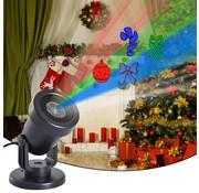 HOMdotCOM HOMdotCOM LED projector kerstmis (cadeau, lint, kerstbal en zuurstok) Voor binnen en buiten