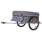HOMdotCOM HOMdotCOM Transportaanhanger voor de fiets - grijs - 40 kg
