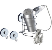 Vacuum Loc Vacuum Loc Haardrogerhouder set met 2 wandhaken