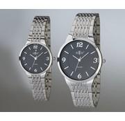 Retox Retox Cadeauset horloges voor dames en heren zwart/zilver