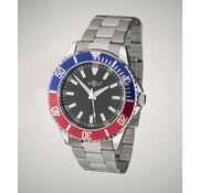 Retox Retox Heren Horloge, met 2 kleurig wijzerplaat en RVS polsband, 3 bar waterdicht