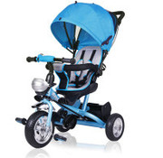 Deuba Deuba kinderfiets/driewieler - Blauw- Duwstang, klapdak, opklapbare voetsteun, mandje