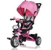 Deuba Deuba kinderfiets/driewieler -Roze- Duwstang, klapdak, opklapbare voetsteun, mandje