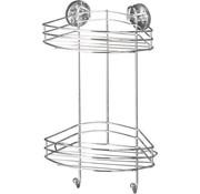 Vacuum Loc Badkamer Doucherek - hoek- met haakjes -2 niveaus