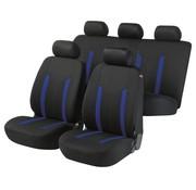 Walser Auto stoelbekleding Hastings, zwart, blauw