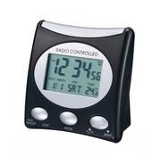 Techno Line Techno Line Wekker met LCD, zwart/zilver