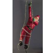 Wetekom Wetekom Klimmende Kerstman op LED-ladder
