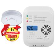 Smartwares Smartwares Brandbeveiligingsset bestaande uit rook- en CO-detector met LCD-display.