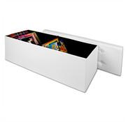 Deuba Deuba Bankje met opbergruimte wit | opvouwbaar | 114 x 40 x 40 cm