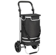 Monzana Monzana Boodschappen trolley zwart aluminium - max 25 kg