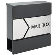 Monzana Monzana Designer brievenbus antraciet / zilver