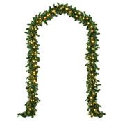 Casaria Casaria Kerstkrans 10m met 200 LED's voor binnen/buiten