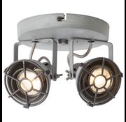 Brilliant Brilliant JESPER Spotlamp 2xGU10 4W Warmwit Grijs