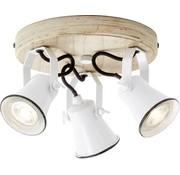 Brilliant Brilliant SEED Plafondlamp 3xGU10 Hout Wit
