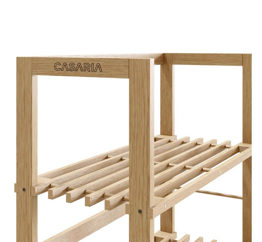 Staande kast - hout -135,5 x 58 x 27 cm