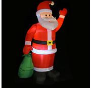 Deuba Deuba Opblaasbare kerstman met verlichting