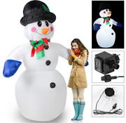Deuba Deuba Opblaasbare sneeuwpop met 20 LED's