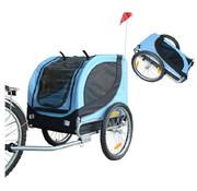 Pawhut Pawhut Hondentrailer fietskar opvouwbaar blauw