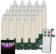 Deuba Deuba Draadloze LED kerstboom kaarsen Multi-Colour kerstverlichting 15 stuks + 5 extra gratis