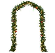 Casaria Casaria Guirlande Kerstkrans 5m met 80 LED's incl. decoratie voor binnen & buiten