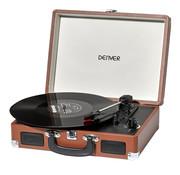 Denver Denver Retro USB-platenspeler VPL-120 in koffer, bruin met gratis koptelefoon
