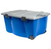 Deuba Deuba Jumbo-rolbox blauw met 2 handgrepen 170 liter