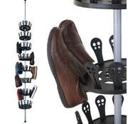 Deuba Deuba XXL schoen carrousel voor 96 schoenen in roestvrij staal
