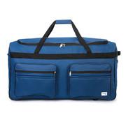 Deuba Deuba XXL Reistas Donker blauw met trolley-functie 3 wielen 160 LITER 85x43x44cm
