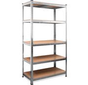 Deuba Deuba Metalen Opbergrek/Stellingkast met 5 legborden - 875kg draagkracht - (HxBxD) 180x90x40 cm - 175kg per plank