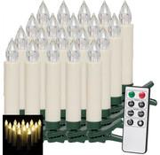 Deuba Deuba Kerstverlichting -  Kerstboomkaarsen 20 stuks MET afstandsbediening