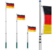 Deuba Deuba vlaggenmast 630cm Duitsland | Telescopisch