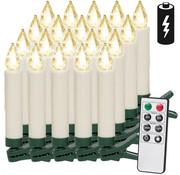 Deuba Deuba LED Kerstverlichting Kaarsen 20 Stuks Kerstboomverlichting - Warm wit - incl. afstandsbediening met timer en 20 batterijen